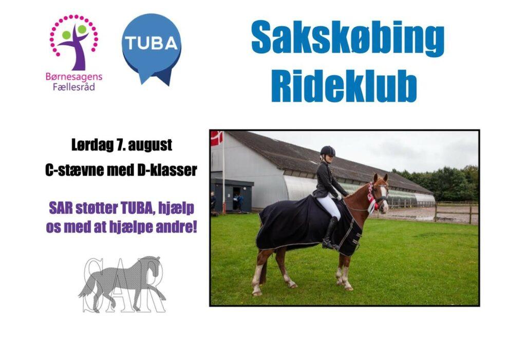 Sakskøbing Rideklub støtter TUBA med 3050,- kr. via Børnenes Fællesråd.